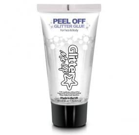 tube of peel-off glue for glitter