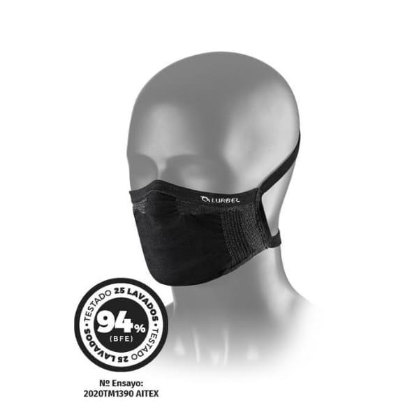 mascherina lavabile colore nero