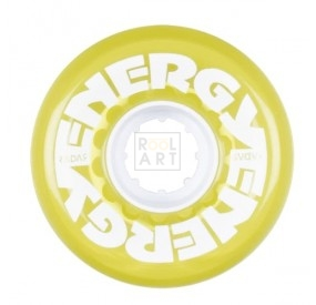 riedell energy 62 mm clear yellow front