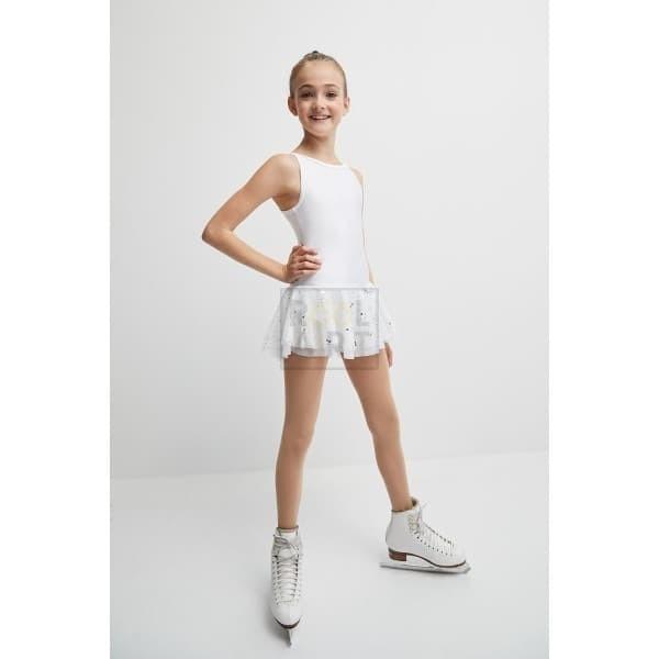 mondor skating dress 672 white front