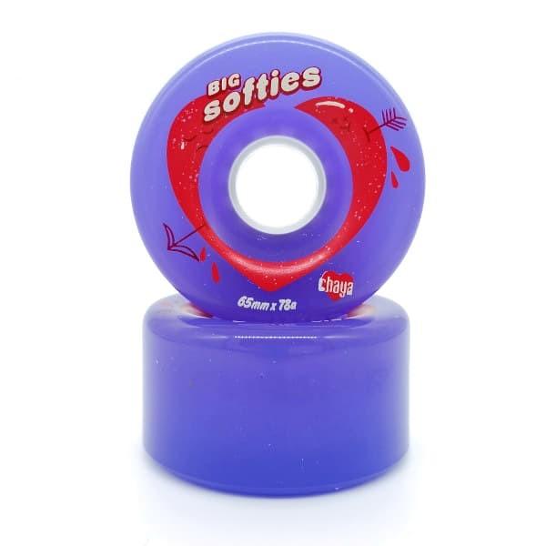 big softies 65mmx78A clear purple wheels