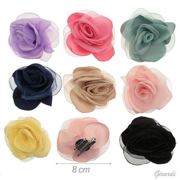 clip toulle flower