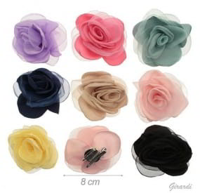 clips toulle flower
